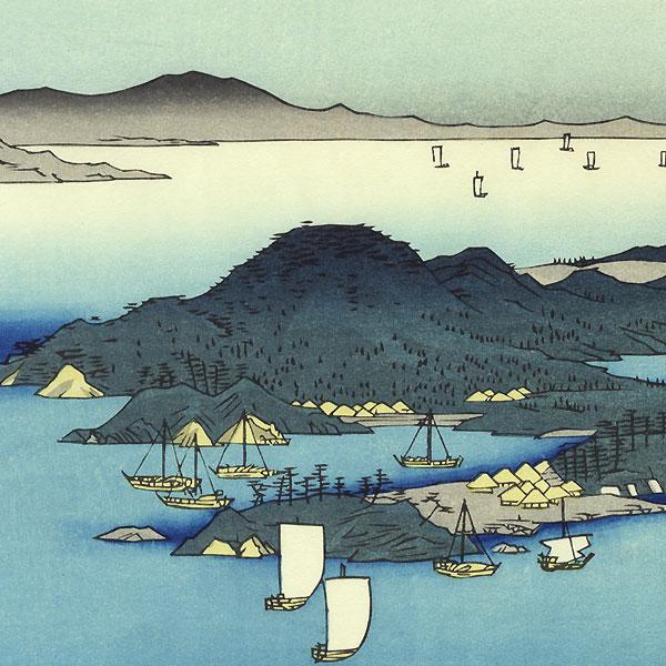 Tsushima Province, A Fine Evening on the Coast by Hiroshige (1797 - 1858)