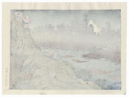 Mt. Fuji in a Fog  by Hokusai (1760 - 1849)