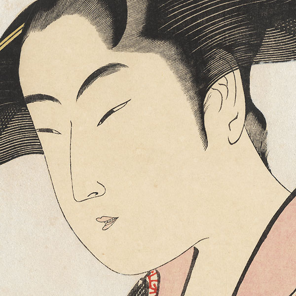 Ochie of the Koiseya at Kobikicho, Shin-yashiki by Utamaro (1750 - 1806)
