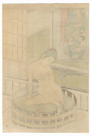 Beauty Bathing by Kiyomitsu (1735 - 1785)