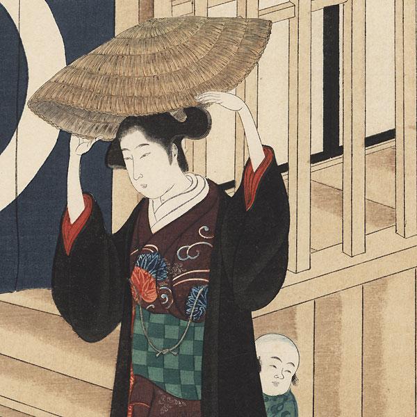 Street in Evening by Kawamata Jogyo (Genroku era artist)