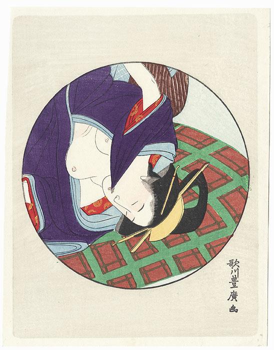 Pillow Print by Toyohiro (1773 - 1828)