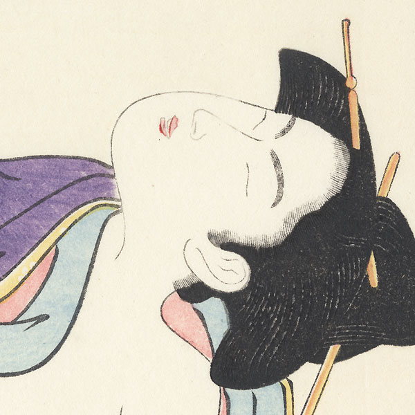 Pillow Print by Eishi (1756 - 1829)