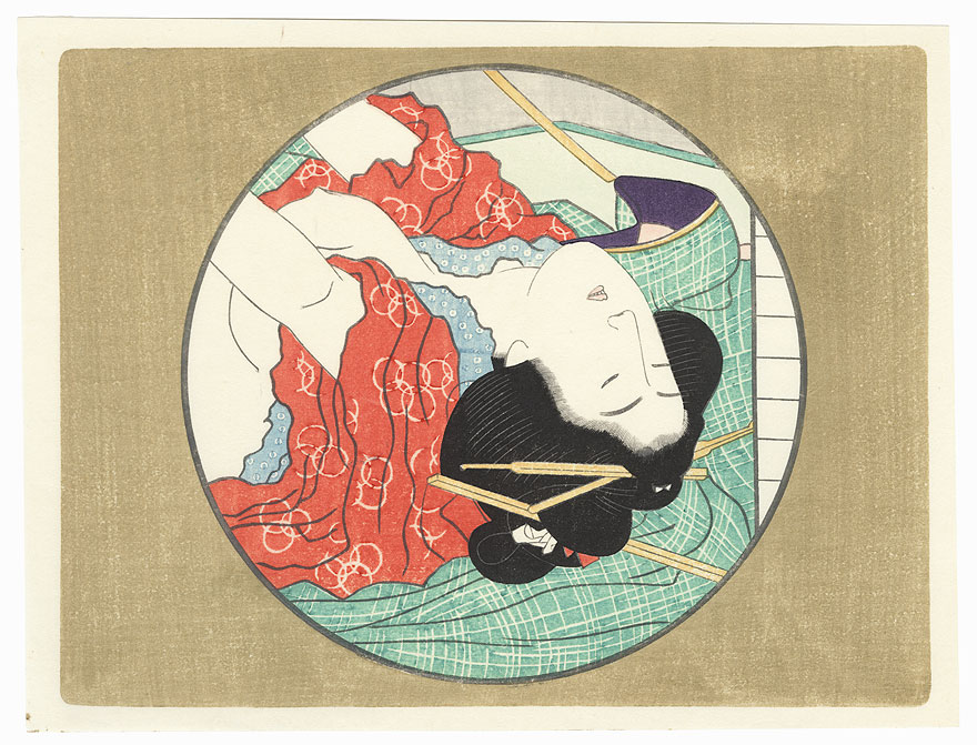 Pillow Print by Edo era artist (unsigned)