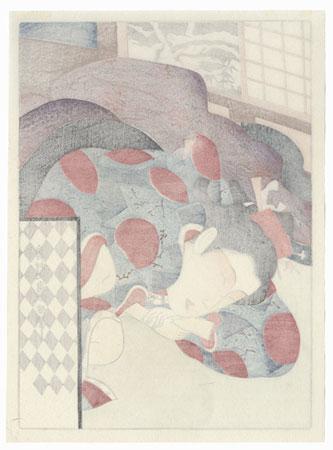 Pillow Print by Masanobu (circa 1686 - 1764)