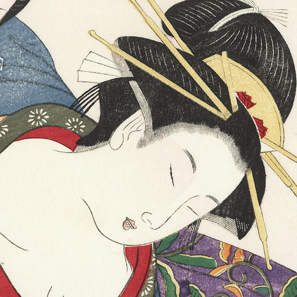 Pillow Print by Eisho (active circa 1780 - 1800)