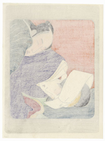 Pillow Print by Utamaro (1750 - 1806)