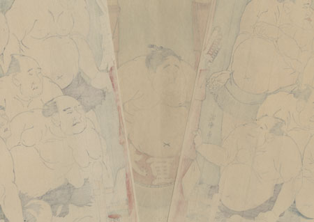 Boy Wrestler Daidozan in the Ring by Sharaku (active 1794 - 1795)
