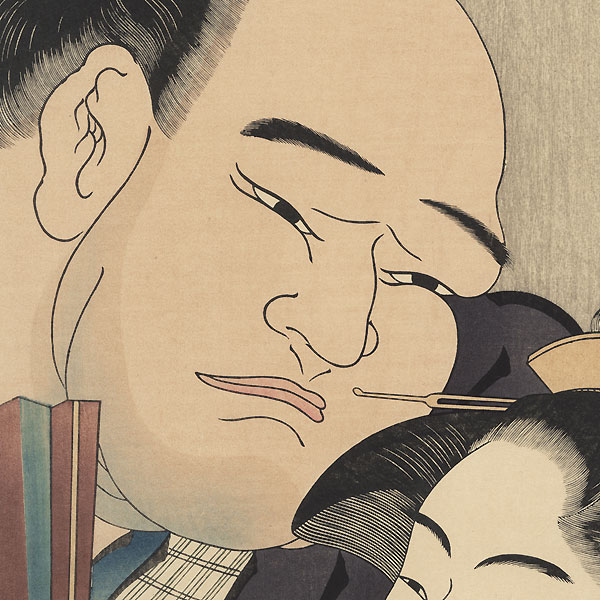 Sumo Wrestler Tanikaze and Naniwaya Okita by Shuncho (active circa 1780 - 1795)