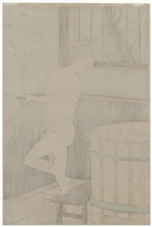 Woman at the Bath by Kiyonaga (1752 - 1815)