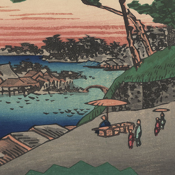 Evening Bell at Ueno by Hiroshige (1797 - 1858)