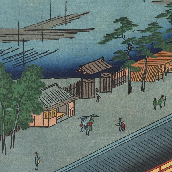 Hall of Thirty-Three Bays, Fukagawa by Hiroshige (1797 - 1858)
