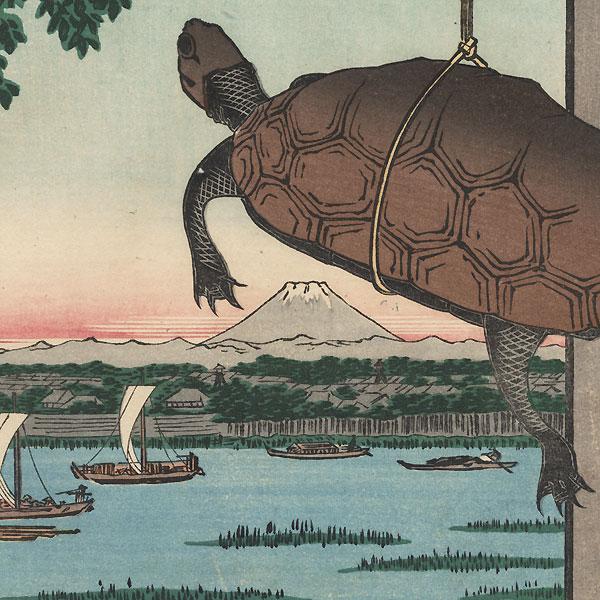 Mannen Bridge, Fukagawa  by Hiroshige (1797 - 1858)