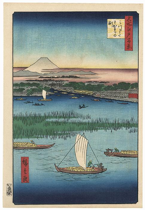 Mitsumata Wakarenofuchi by Hiroshige (1797 - 1858)
