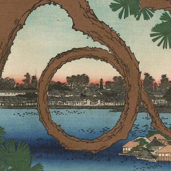 Moon Pine, Ueno by Hiroshige (1797 - 1858)