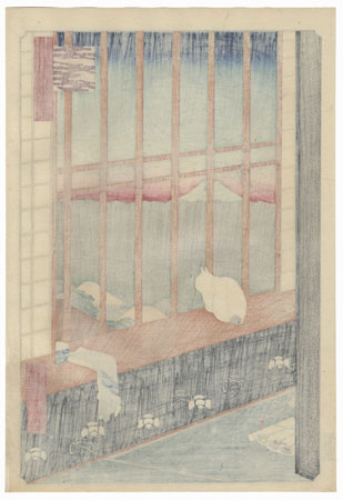 Asakusa Ricefields and Torinomachi Festival by Hiroshige (1797 - 1858)