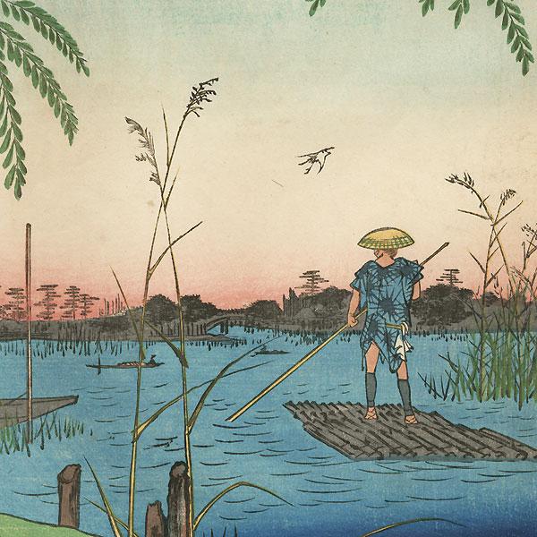 Ayase River and Kanegafuchi by Hiroshige (1797 - 1858)