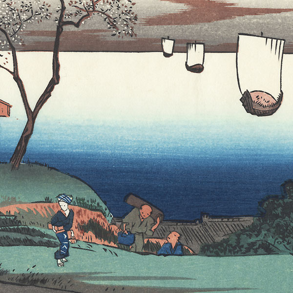 Evening Cherry Blossoms at Goten Hill by Hiroshige (1797 - 1858)