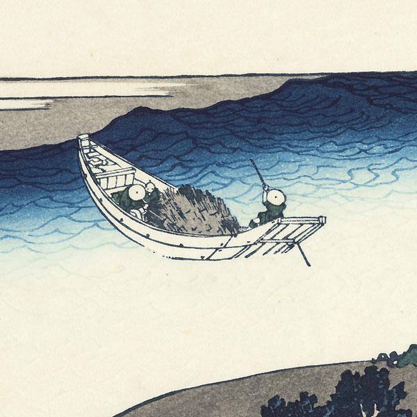 The Tama River in Musashi Province, Edo by Hokusai (1760 - 1849)