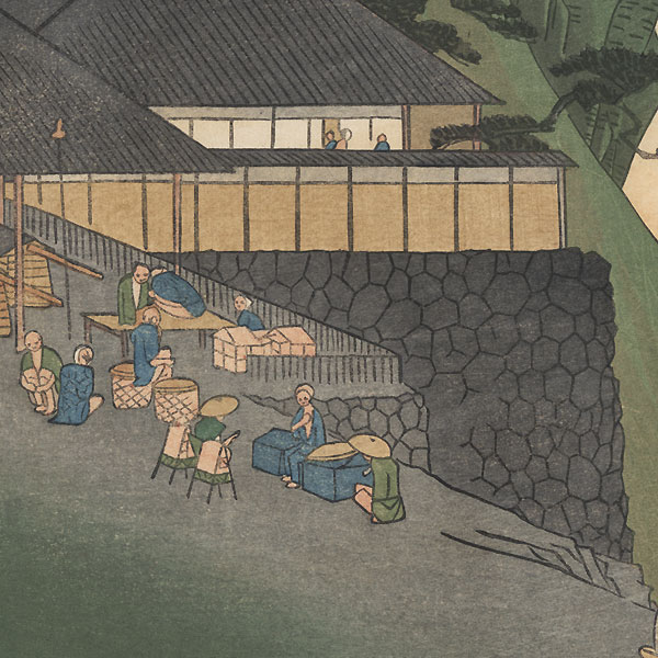 Toriimoto, No.64 by Hiroshige (1797 - 1858)