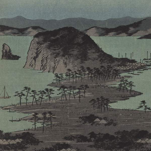 Panorama of the Eight Views of Kanazawa under a Full Moon by Hiroshige (1797 - 1858)