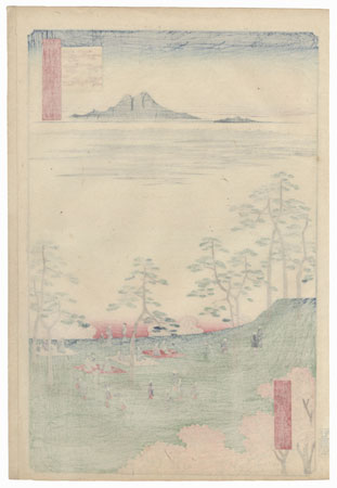 View to the North from Asukayama by Hiroshige (1797 - 1858)