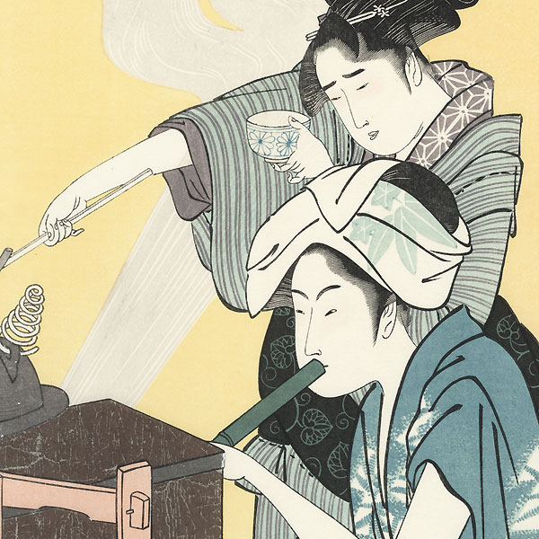 Women in the Kitchen by Utamaro (1750 - 1806)
