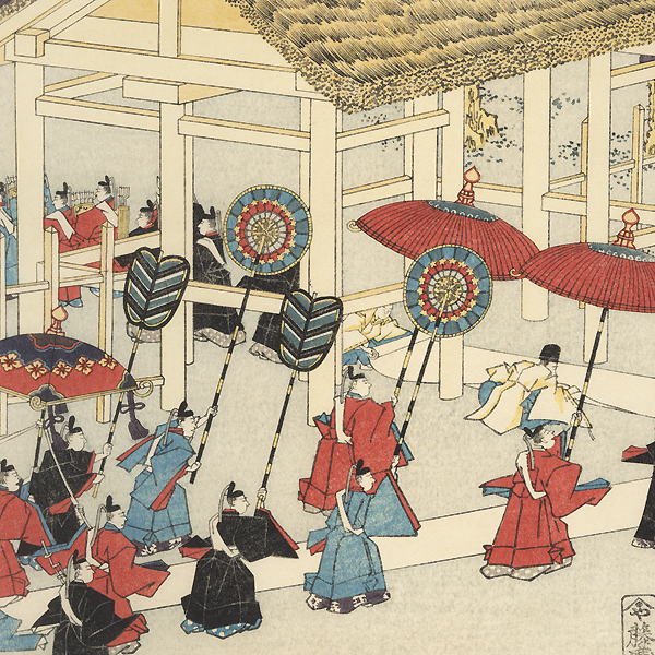 Transfer Ceremony at Ise Shrine by Sadahide (1807 - 1873)