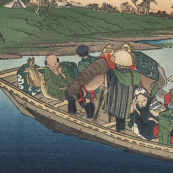 Warabi: The Toda River Crossing by Eisen (1790 - 1848)