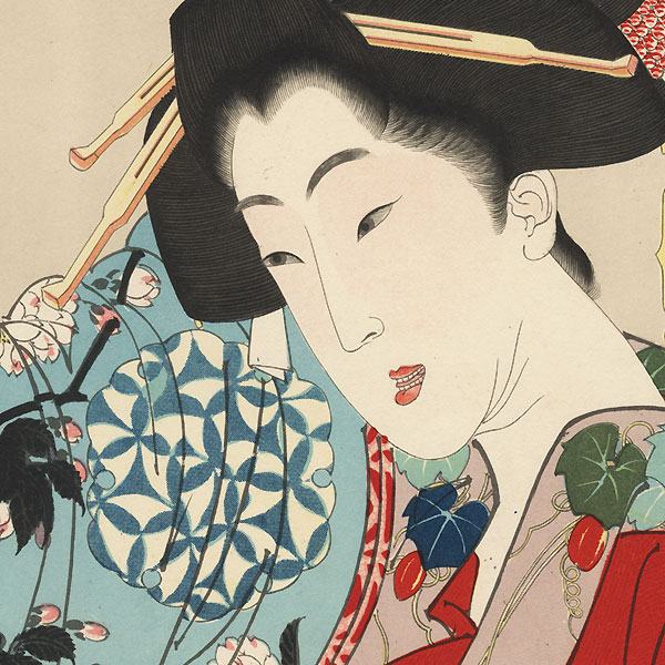 Disagreeable: the appearance of a young lady from Nagoya during the Ansei era, No. 23 by Yoshitoshi (1839 - 1892)