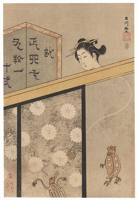Rokurokubi (Long-necked Demon) by Tadanobu (1722 – 1777)