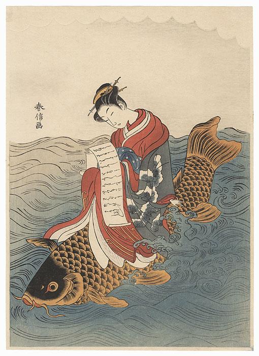 Parody of Kinko Sennin by Harunobu (1724 - 1770)