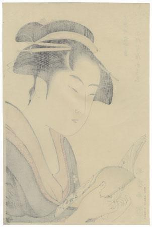 Ochie of the Koiseya at Kobikicho, Shin-yashiki by Utamaro (1750 - 1806)