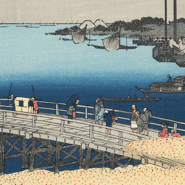 Eitai Bridge and Fishing Boats off Tsukuda Island by Hiroshige (1797 - 1858)
