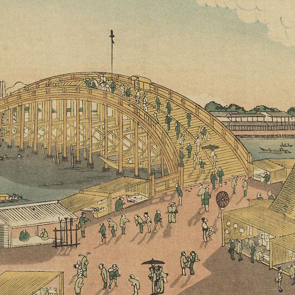 View of Ryogoku by Hokuju (active circa 1789 - 1818)