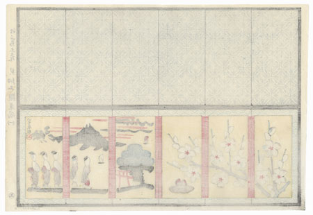 Folding Screen Toy Print by Meiji era artist (unsigned)