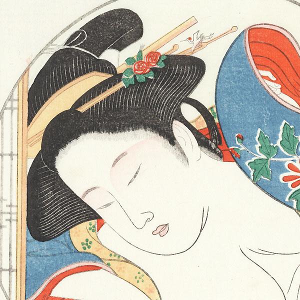 Pillow Print by Edo era artist (not read)
