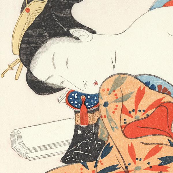 Pillow Print by Harunobu (1724 - 1770)