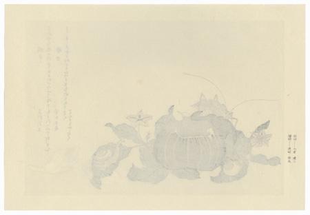 Land Snail and Giant Katydid by Utamaro (1750 - 1806)