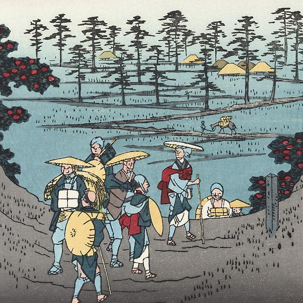 Sanuki Province, Distant View of Mount Zozu by Hiroshige (1797 - 1858)