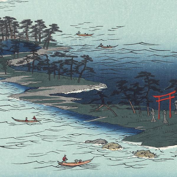 Chikuzen Province, Hakozaki, Umi no Nakamichi by Hiroshige (1797 - 1858)