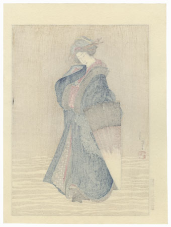 Beauty in the Snow by Hokusai (1760 - 1849)