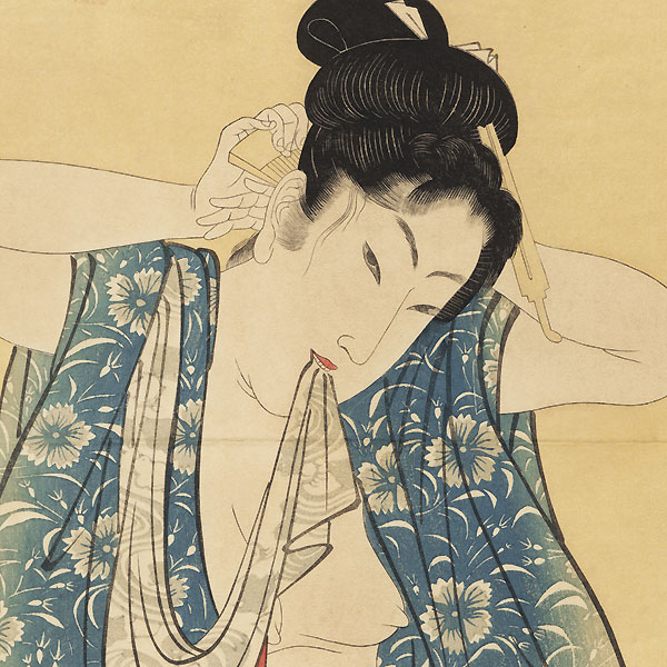 Beauty after a Bath Kakemono by Toyokuni III/Kunisada (1786 - 1864)