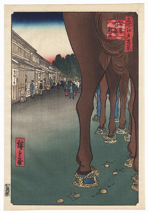 Naito Shinjuku, Yotsuya by Hiroshige (1797 - 1858)