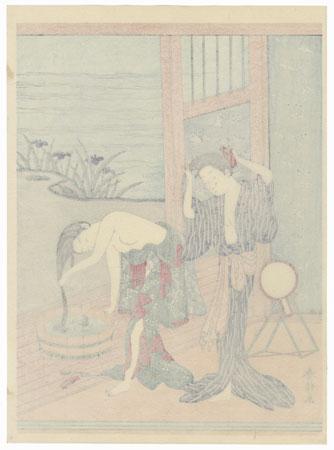 Beauties Washing Hair by Harunobu (1724 - 1770)