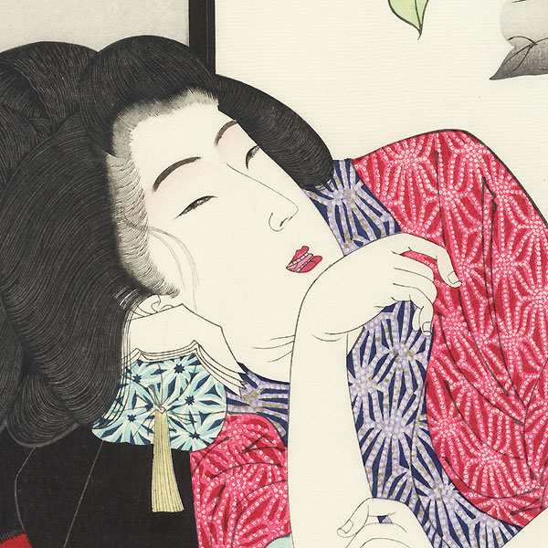 Drowsy: the appearance of a harlot of the Meiji era, No. 30 by Yoshitoshi (1839 - 1892)