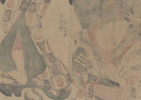 Beauty with an Umbrella Kakemono, circa 1830 - 1844 by Toyokuni III/Kunisada (1786 - 1864)