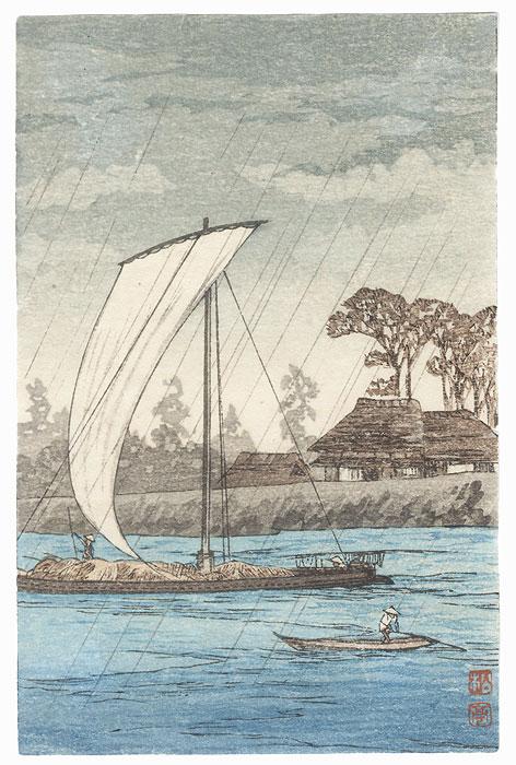 Rainy Day by Shin-hanga & Modern artist (not read)