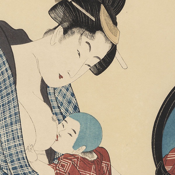 Mother and Baby  by Utamaro (1750 - 1806)
