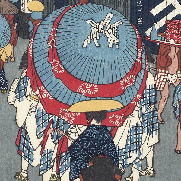 View of Nihonbashi Tori 1-chome by Hiroshige (1797 - 1858)